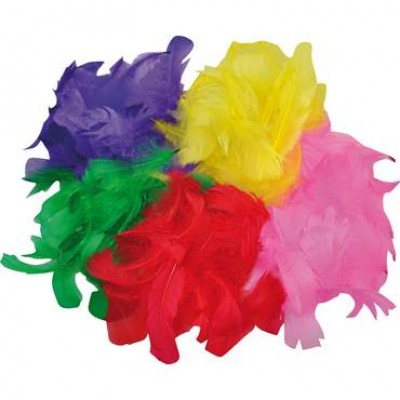 Fjädrar Mixade Färger 200st/fpk