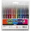 Tuschpennor Colortime Glitter 12 Mixade Färger