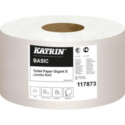 Katrin Toalettpapper Basic Gigant S 12rullar/kart(Miljö)