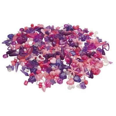 Plastpärlor Lila och Rosa 1000st/fpk