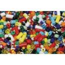 Pärlor Rocailles 250g Mix Form