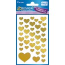 Stickers Hjärtan Guld 80st/fpk