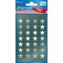 Stickers Stjärnor Silver 56st/fpk