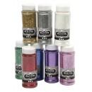 Glitter Mixade Färger 110g 8st/fpk