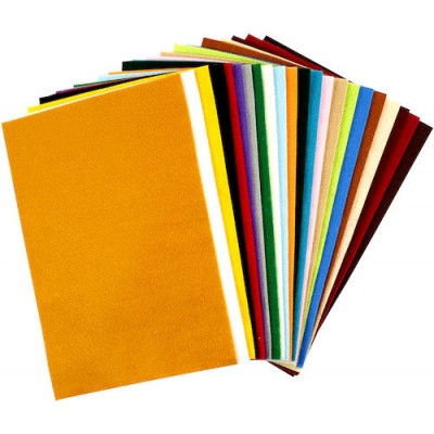Hobbyfilt 20x30cm 24 Mixade Färger