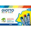 Oljepastellkrita Giotto Olio Fine 12st/fpk