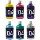 Akrylfärg Glitter Mix 500ml 6st/fpk