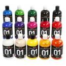 Akrylfärg Blank 500ml Mix 15st/fpk