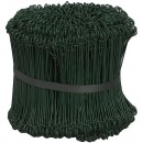 Säckbindtråd 15cm Plastad Grön 1000st/fpk