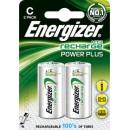 Batteri Energizer Uppladdningsbara C 2st/fpk