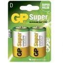 Batteri GP Super Alkaline 13A/LR20 Storlek D 2st/fpk