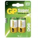 Batteri GP Super Alkaline 14A/LR14 Storlek C 2st/fpk