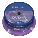 DVD+R Verbatim 16x Cakebox 25st/fpk