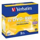 DVD+RW Verbatim 4.7GB 5st/fpk
