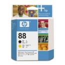 Skrivhuvud HP Nr88 Svart/Gul