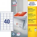 Universaletikett Zweckform Avery 3657 48,5x25,4mm 4000st/fpk (Miljö)