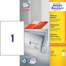 Universaletikett Zweckform Avery 3478 210x297mm 100st/fpk (Miljö)