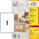 Adressetikett Avery Recycled LR7167 199,6x289,1mm 100st/fpk (Miljö)