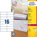 Adressetikett Avery L7182 105x37mm 1600st/fpk (Miljö)