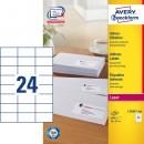 Adressetikett Avery L7181 70x37mm 2400st/fpk (Miljö)