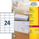 Adressetikett Avery L7180 70x36mm 2400st/fpk (Miljö)