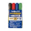 Whiteboardpenna Artline 517 Konisk 2mm 4-Set