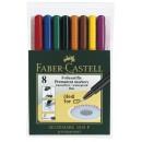 Märkpenna Faber Castell Fine Permanent 8-Set
