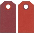 Manillamärken Etiketter 6x3cm Röd 20st/fpk