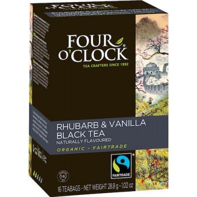 Te Four O'clock Rabarber och Vanilj Eko 16st/fpk