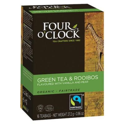Te Four O'clock Grönt Päron och Vanilj Eko 16st/fpk