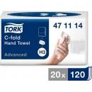 Pappershandduk Tork H3 C-fold Advanced 2400ark/fpk