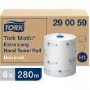Pappershandduk på Rulle Tork H1 Matic Universal Extra Lång 6st/fpk