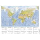 Väggblad med Världskarta 850x630mm (Miljö)