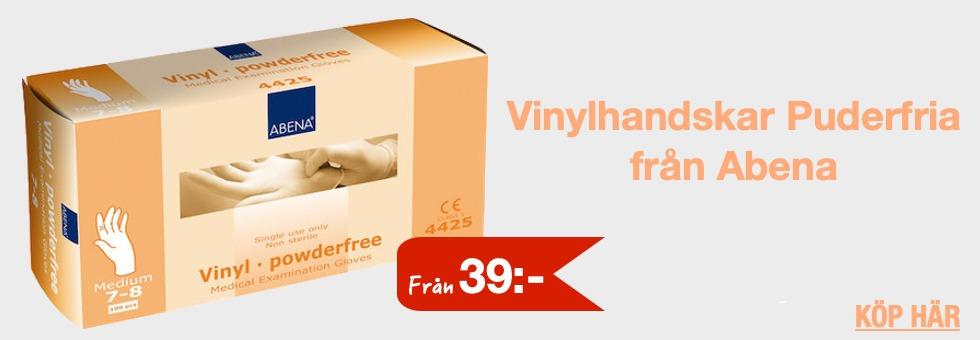 Vinylhandskar puderfria